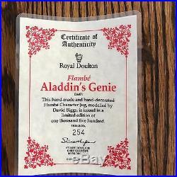 Royal Doulton Character Jug-RARE Flambe-Aladdin's Genie D6971-COA #254/1500