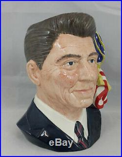 Royal Doulton Character Jug Ronald Reagan D6718 Presidents Signature & CoA