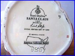 Royal Doulton Character Jug SANTA CLAUS Large D6840 1989 ONLY LE