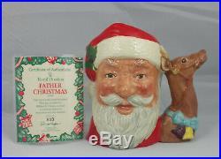 Royal Doulton Character Jug Santa Claus D6675 With Certificate