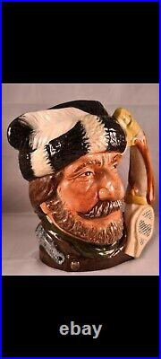 Royal Doulton Character Jug Very Rare Canadian Trapper with painted snowshoe