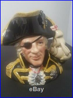 Royal Doulton Character Jug Vice Admiral Lord Nelson D6932 LARGE 1993 WITH COA