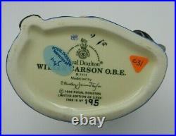 Royal Doulton Character Jug WILLIE CARSON O. B. E. D7111