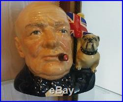Royal Doulton Character Jug- Winston Churchill & Bulldog