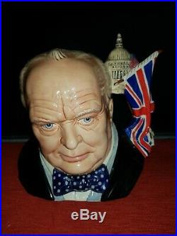 Royal Doulton Character Jug Winston Churchill D7298 C. J. Y Mint in box with cert