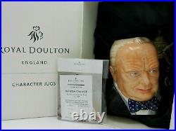 Royal Doulton Character Jug Winston Churchill D7298 JOY 2009 As New