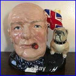 Royal Doulton Character Jug- Winston Churchill with Certificate
