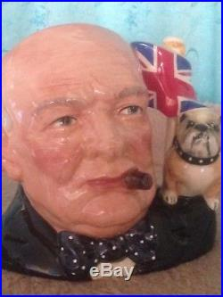 Royal Doulton Character Jug of year 1992 Winston Churchill Excellent