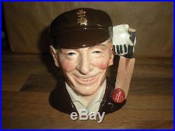 Royal Doulton Character Jug -sir Jack Hobbs D7131- Limited Edition Cricketers