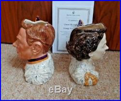 Royal Doulton Character Jugs King George VI & Queen Elizabeth D7168 D7167