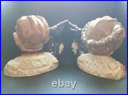 Royal Doulton Character Jugs King George VI & Queen Elizabeth ll