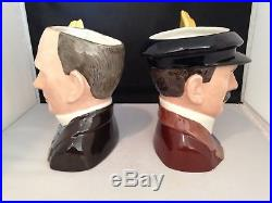Royal Doulton Character Jugs Orville Wright & Wilbur Wright D7178 & D7179