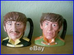 Royal Doulton Character Jugs The Beatles Full Set Of Four Stunning Set