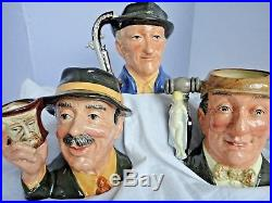 Royal Doulton Character Jugs'The Collecting World' Trio. D6796, D6807, D6838