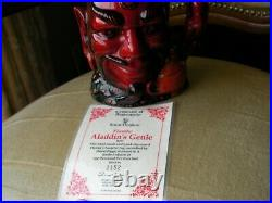 Royal Doulton Character Toby Jug Aladdin's Genie Flambe Limited Edition D6974