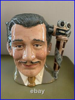 Royal Doulton Character Toby Jug Clark Gable Celebrity Collection D-6709