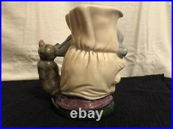 Royal Doulton Character Toby Jug Cook and The Cheshire Cat Large D6842 1989