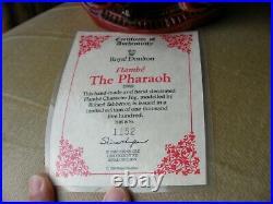 Royal Doulton Character Toby Jug Pharaoh Flambe Limited Edition + Cert D7028