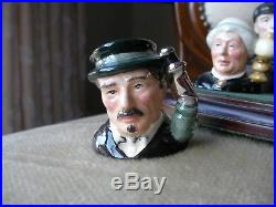 Royal Doulton Character Toby Jug Rare Sherlock Holmes Tiny Tinies Set MINT