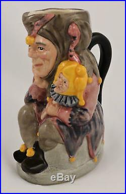 Royal Doulton Character Toby Jug The Jester D6910 Limited Edition #750 5 Medium
