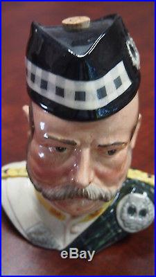 Royal Doulton Character Toby Jug William Grant Liquor Container Trial Colourway