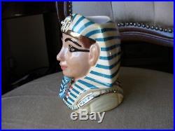 Royal Doulton Character Toby Jugs Tutankhamen + Ankhesanamun Rare Small MINT