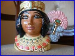Royal Doulton Character Toby Jugs Tutankhamun + Ankhesanamun Rare Small MINT