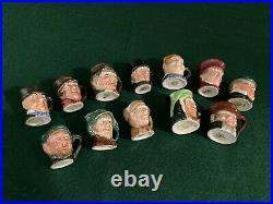 Royal Doulton Complete Original Tiny Character Jug Set (12 Jugs)