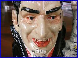 Royal Doulton Count Dracula D7053 Character Jug Year 1997 Mint Condition