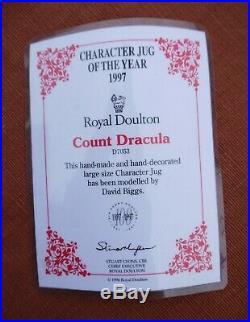 Royal Doulton Count Dracula D7053 Large Character Jug