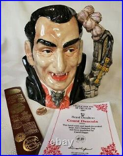 Royal Doulton Count Dracula D7053 with Certificate, Original Box and Extras