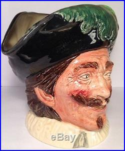Royal Doulton D6114 Cavalier With Goatee Extremely Rare Large Character Jug
