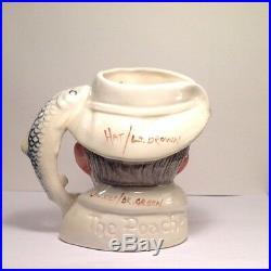 Royal Doulton D6464 Prototype Color Trial The Poacher SMALL Character Jug