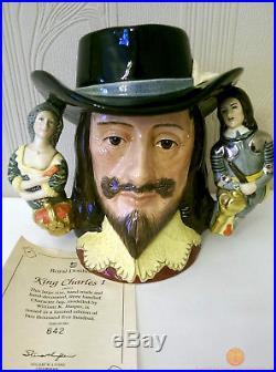 Royal Doulton D6917 KING CHARLES I Large Character Jug + COA Ltd Edition of 2500
