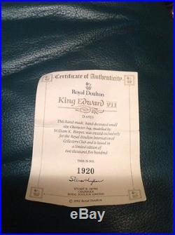 Royal Doulton D6923 King Edward Vll SMALL Character Jug Limited Edition