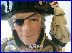 Royal Doulton D6932 Vice Admiral Lord Nelson Character Jug + COA 1993 Only