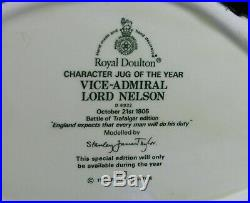 Royal Doulton D6932 Vice-Admiral Lord Nelson Character Jug Of The Year