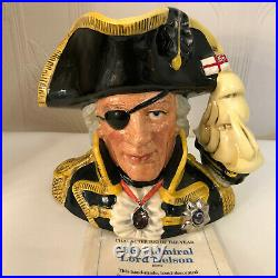Royal Doulton D6932 Vice Admiral Lord Nelson Large Character Jug Of The Year+COA