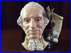 Royal Doulton D6965 George Washington Large Character Jug Limited Edition