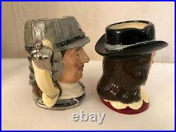 Royal Doulton D6985 6986 King Charles I And Oliver Cromwell Small Character Jugs