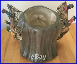 Royal Doulton D7029 Geoffrey Chaucer Large Two-Handled Toby Character Jug with COA