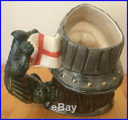 Royal Doulton D7129 Large St. George Limited Edition Toby Character Jug with COA