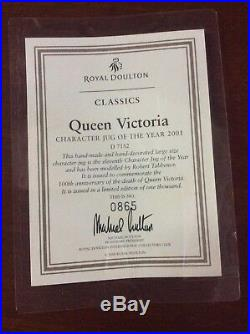 Royal Doulton D7152 Queen Victoria 2001 Large Character Jug Of The Year