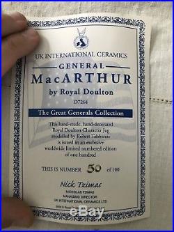 Royal Doulton D7264 General Macarthur Rare Large Character Jug 50/100