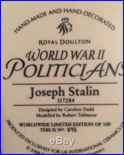 Royal Doulton D7284 Joseph Stalin Large Character Jug 98/100