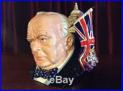 Royal Doulton D7298 Winston Churchill Large Character 2009 Jug Of The Year