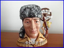 Royal Doulton Davy Crockett Large Character Jug D7293 Alamo Collection 30/100