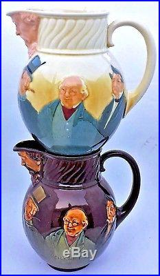Royal Doulton, Dicken's Characters, Kingsware Whisky Water Pitcher Jug D2847