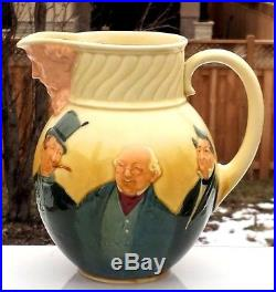 Royal Doulton Dicken's Characters Queensware Kingsware Whiskey Pitcher Jug D5708