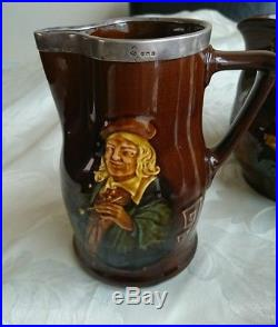 Royal Doulton Dickens Character Dewars Kingsware Whisky Water Jug Hallmarked